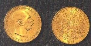 100 corone Austriache